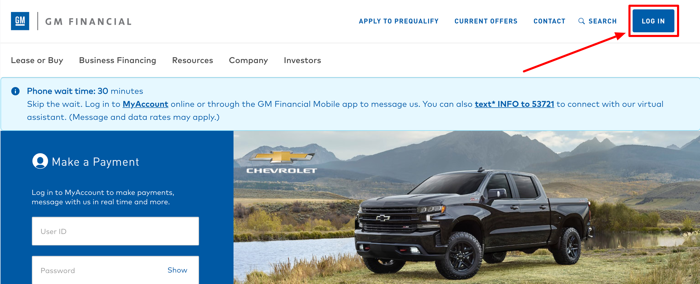 GM Financial Login