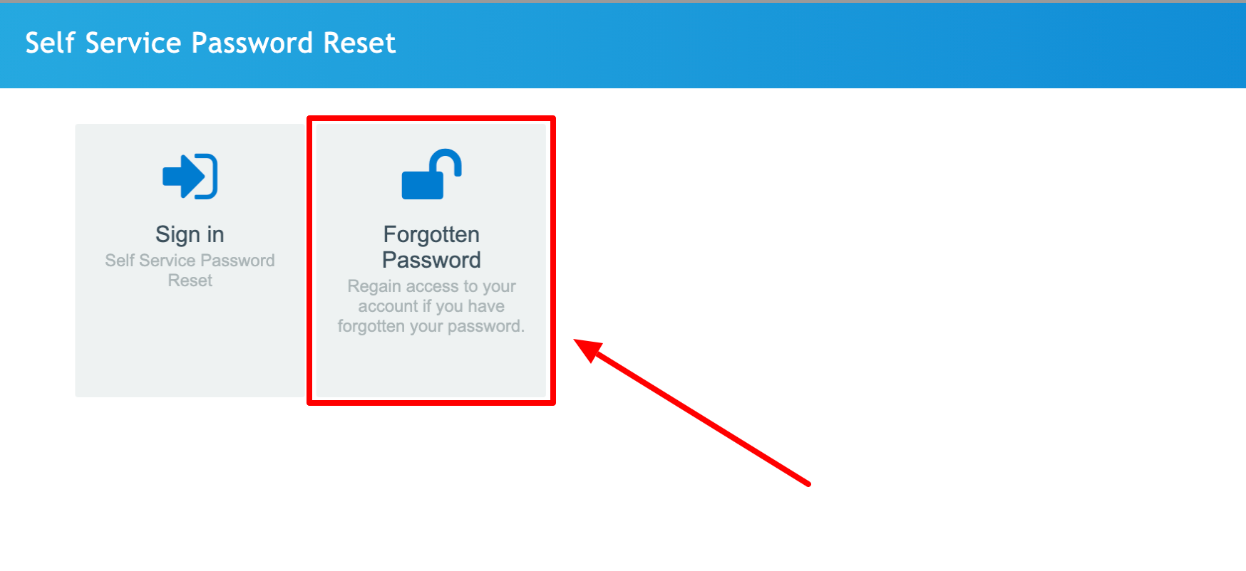 Self Service Password Reset