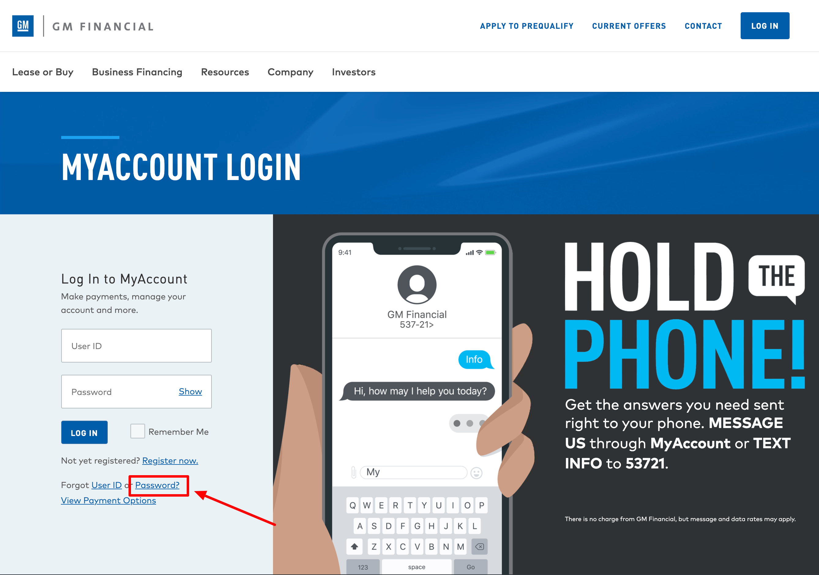 gmfinancial login